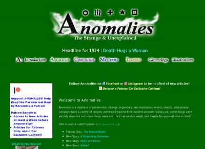 Anomalies, the Strange & Unexplained