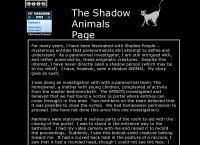 Shadow Animals Page